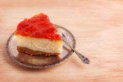 Cheesecake with brazilian goiabada jam of guava Royalty Free Stock Image