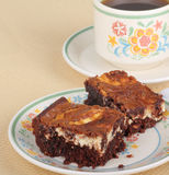 Cheesecake Brownies Stock Photography
