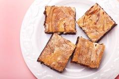 Cheesecake Brownies Royalty Free Stock Photos