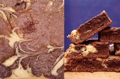 Cheesecake brownies Stock Photos