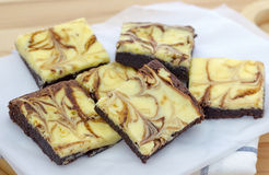 Cheesecake brownies Royalty Free Stock Image