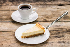 Cheesecake with cake server Stock Photography