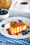 Cheesecake with caramel sauce Royalty Free Stock Photo