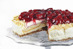 Cheesecake with cherries Royalty Free Stock Photo