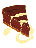 Cheesecake chocolate cake slice. Stock Photo