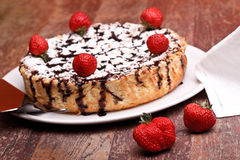 Cheesecake With Chocolate And Lemon Royalty Free Stock Images