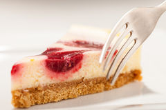 Cheesecake Closeup Stock Image