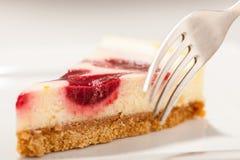 Cheesecake Closeup Stock Image