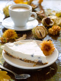 Cheesecake with coffee Stock Photos