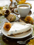 Cheesecake with coffee Royalty Free Stock Images