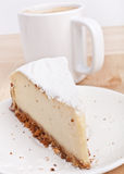 Cheesecake and Coffee Stock Image