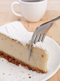 Cheesecake and Coffee Royalty Free Stock Image