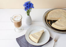 Cheesecake with coffee Stock Photography
