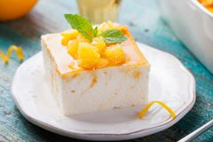 Cheesecake, Cottage Cheese Pudding Royalty Free Stock Image