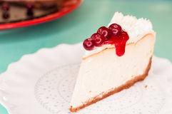 Cheesecake with cranberries Stock Photo
