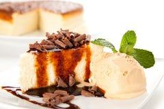 cheesecake czekoladowy śmietanki lód Obraz Royalty Free