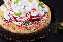 Cheesecake decorated for Christmas Royalty Free Stock Photo
