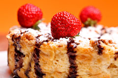 Cheesecake Extreme Closeup Stock Images
