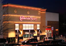 Cheesecake Factory Night View Royalty Free Stock Photography