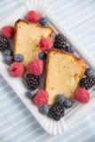 Cheesecake with fresh berries Stock Photos