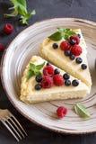 Cheesecake with fresh berries Stock Image