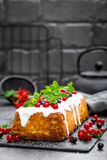 Cheesecake with fresh berries and yogurt, stock photo Stock Photo