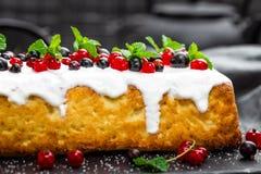 Cheesecake with fresh berries and yogurt, stock photo Royalty Free Stock Photography