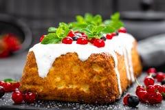 Cheesecake with fresh berries and yogurt, stock photo Royalty Free Stock Photo