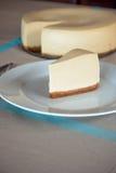 Cheesecake. Fresh creamy cheesecake. Traditional recipe Stock Photos