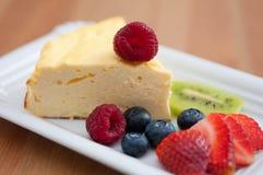 Cheesecake with fresh fruit Stock Image