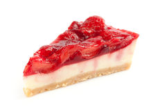 Cheesecake with fresh strawberries Stock Photo