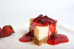 Cheesecake with fruit stock photo