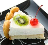 Cheesecake with fruits Stock Photography