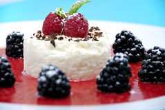 Cheesecake with fruits Royalty Free Stock Photography