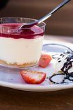 Cheesecake in the glas Royalty Free Stock Photo
