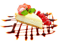 Cheesecake - gourmet food, desserts Stock Image