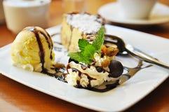 Cheesecake with icecream Stock Photo