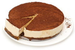 Cheesecake isolated Stock Photos