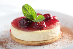 Cheesecake with jam Royalty Free Stock Image