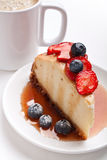 cheesecake kawa Obraz Royalty Free