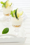 Cheesecake with lime Royalty Free Stock Image