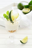 Cheesecake with lime Royalty Free Stock Images