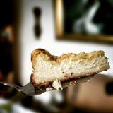 cheesecake Mirada artística en colores vivos del vintage Fotografía de archivo