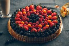 Cheesecake With Mixed Berries. Yekaterinburg Cheesecake With Mixed Berries royalty free stock photography