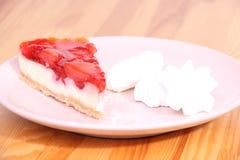 Cheesecake na talerzu fotografia royalty free