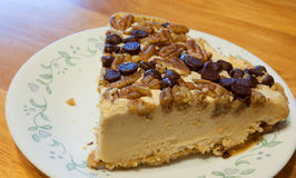 Cheesecake with nuts Stock Photography