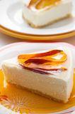 Cheesecake with peach Royalty Free Stock Photo