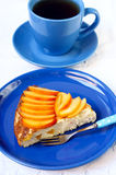 Cheesecake with peach Royalty Free Stock Photos