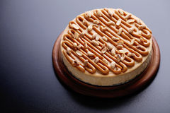 Cheesecake with peanuts Stock Photos