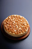 Cheesecake with peanuts Stock Image